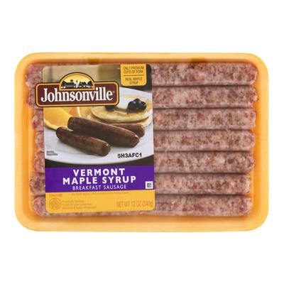 Johnsonville Sausage Vermont Maple Syrup Breakfast Sausage