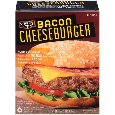 Steak Eze Bacon Cheeseburger