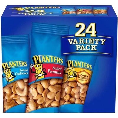 Planters Variety Pack Salted Cashews, Salted Peanuts, Honey Roasted Peanuts