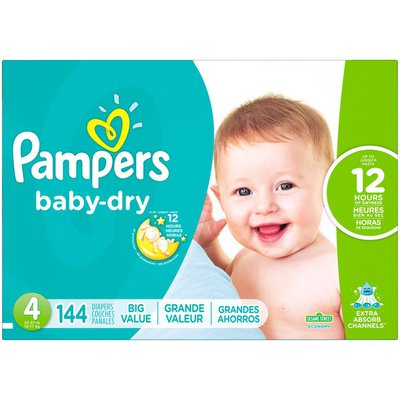 Pampers Baby-Dry Size 4 Diapers