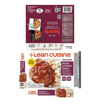 Lean Cuisine Comfort Features Meatloaf with Mashed Potatoes Frozen Meal