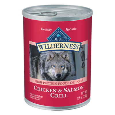 Blue Buffalo Wilderness High Protein, Natural Adult Wet Dog Food, Salmon & Chicken Grill