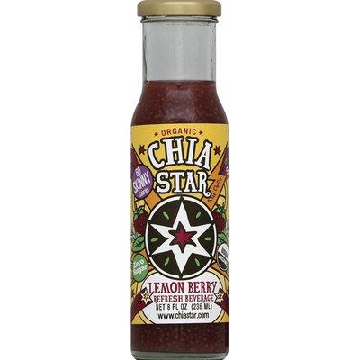 Chia Star Refresh Beverage, Organic, Lemon Berry