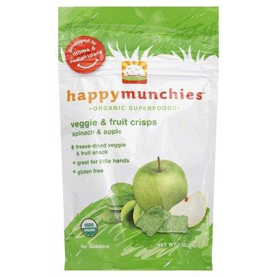 Happy Munchies Veggie & Fruit Crisps, Spinach & Apple