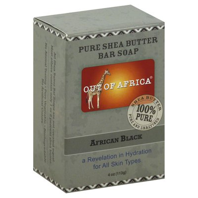 Out Of Africa Bar Soap, Pure Shea Butter, African Black