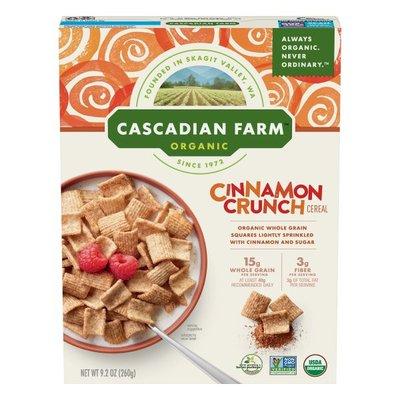 Cascadian Farm Cereal, Organic, Cinnamon Crunch