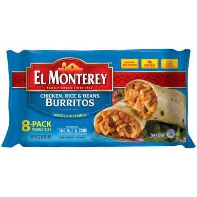 El Monterey Chicken Rice & Bean Burritos