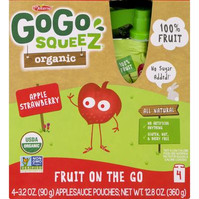 GoGo Squeez Gogo Squeez Organic Apple Strawberry Applesauce on the Go