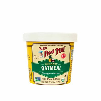 Bob's Red Mill Oatmeal Cup, Pineapple Coconut, Organic, Gluten Free