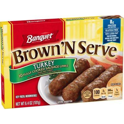 Banquet Brown 'N Serve Turkey Sausage Links