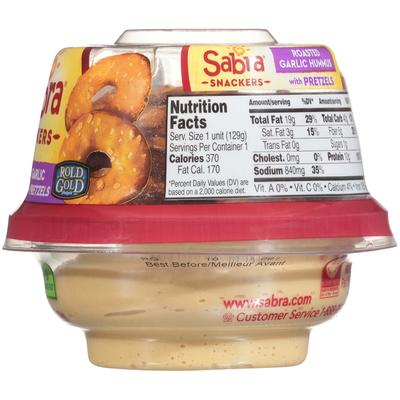 Sabra Hummus With Pretzels Roasted Garlic