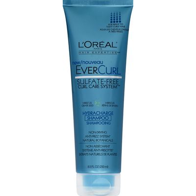 L'Oreal Shampoo, Hydracharge, Curl Care System, Hibiscus Grapeseed