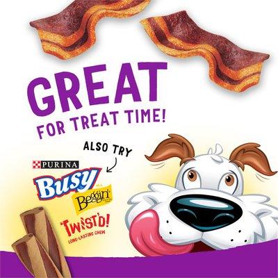 Purina Beggin' Made in USA Facilities Dog Treats, Fun Size With Bacon & Cheese Flavor