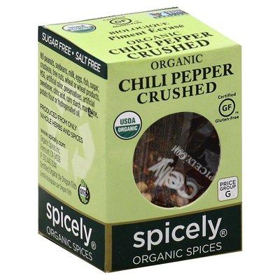 Spicely Organics Chili Pepper, Crushed, Organic