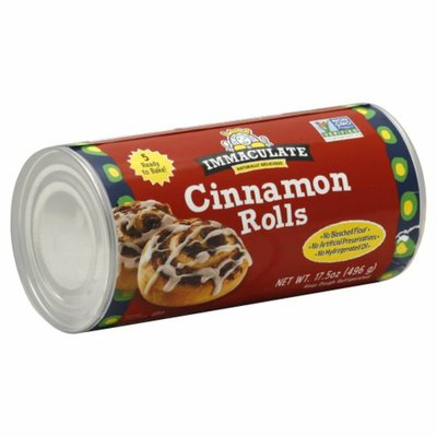 Immaculate Baking Ready to Bake Cinnamon Rolls with Icing, 5 Rolls