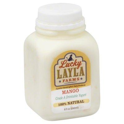 Lucky Layla Farms Yogurt, Drinkable, Mango