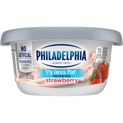 Philadelphia Strawberry Reduced Fat Cream Cheese Spread with a Third Less Fat