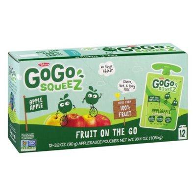 GoGo Squeez Apple Sauce, Apple Apple, 12 Pack