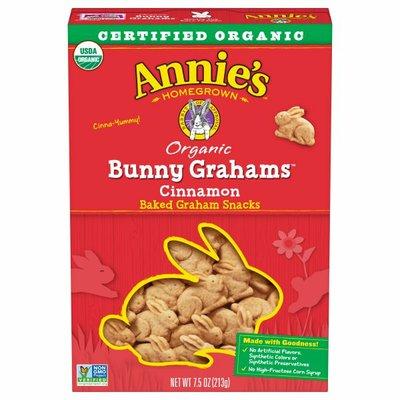 Annie's Organic Cinnamon Whole Grain Bunny Graham Snacks