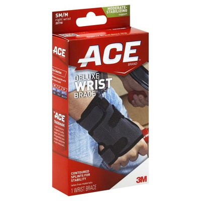 Ace Bakery Wrist Brace, Deluxe, SM,M, Right Wrist, Moderate Stabilizing Support