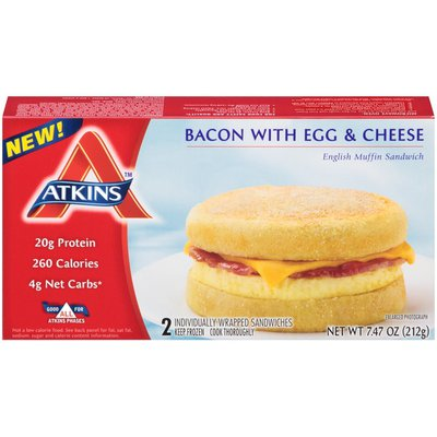 Atkins Bacon with Egg & Cheese English Muffin Sandwich