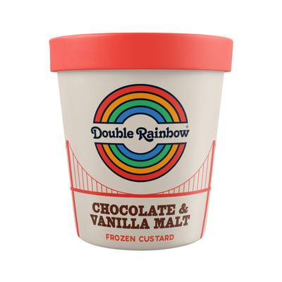 Double Rainbow Chocolate & Vanilla Malt Frozen Custard