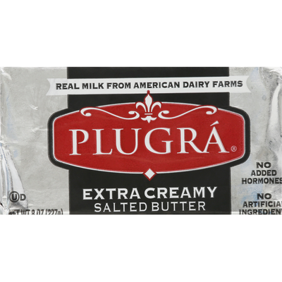 Plugra Butter, Salted, Extra Creamy