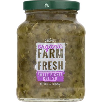 Farm Fresh Pickle Relish, Organic, Sweet, Jar