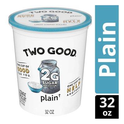 Two Good Low Fat Lower Sugar Plain Greek Yogurt