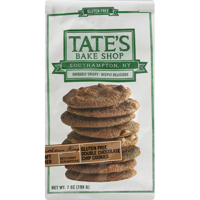 Tate's Bake Shop Chip Cookies, Gluten Free, Double Chocolate