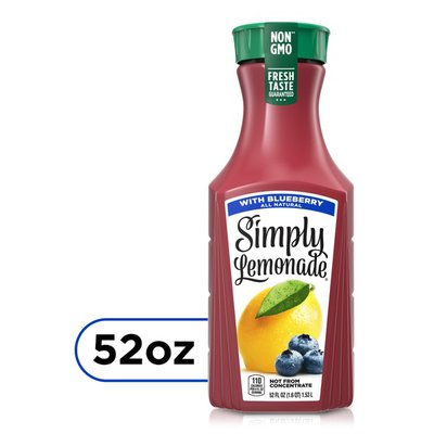 Simply Lemonade With Blueberry, All Natural Non-Gmo