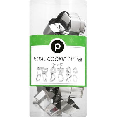 Publix Cookie Cutter, Metal, Set of 12