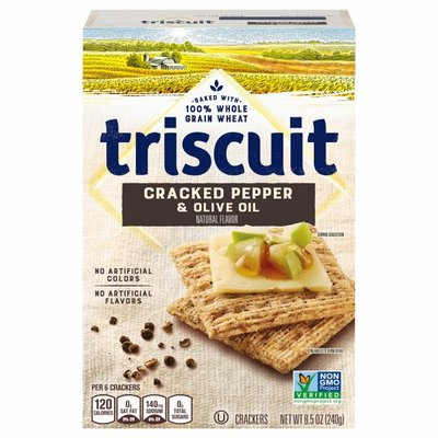 Triscuit Cracked Pepper & Olive Oil Flavor Crackers, 1 Box