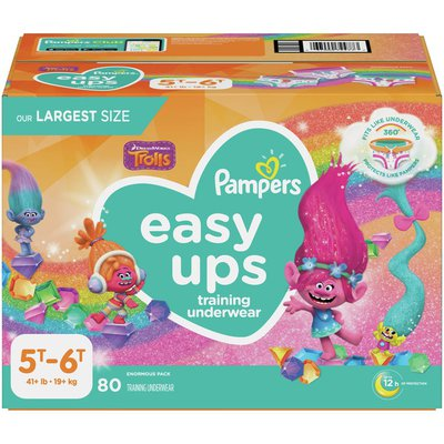 Pampers Easy Ups Training Underwear Girls Size 7 5T-6T