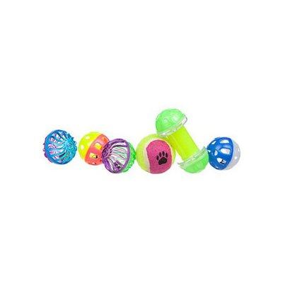 Petco Plastic Dumbbell & Balls Ferret Toys, 6 ct