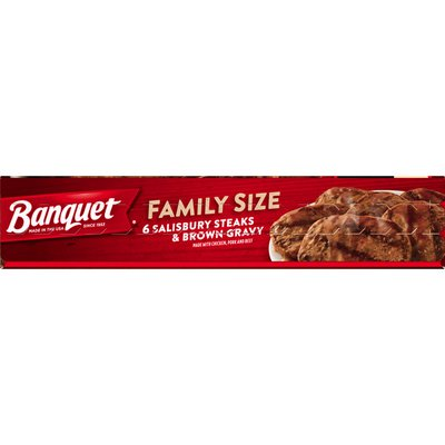 Banquet Family Size Salisbury Steaks And Brown Gravy