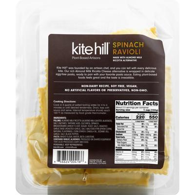 Kite Hill Ravioli, Spinach