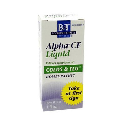 Boericke & Tafel Alpha CF Liquid Homeopathic Remedy for Colds & Flu