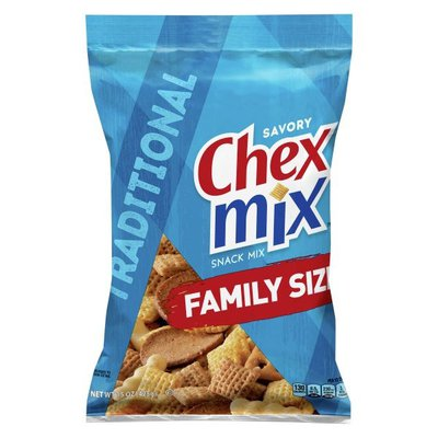 Chex Mix Snack Mix, Savory, Traditional, Family Size