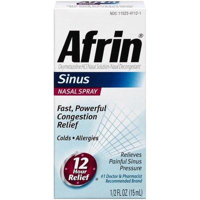 Afrin Sinus Nasal Spray Nasal Decongestant