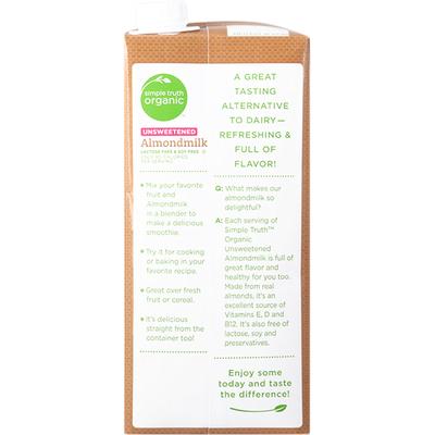 Simple Truth Organic Almondmilk, Unsweetened