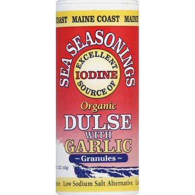 Maine Coast Organic Dulse, with Garlic, Granules