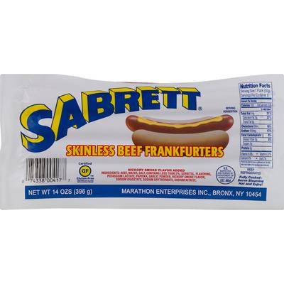 Sabrett Skinless Beef Fankfurters