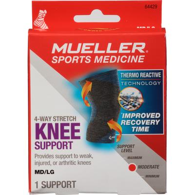 Mueller Knee Support, 4-Way Stretch, Moderate. Medium/Large