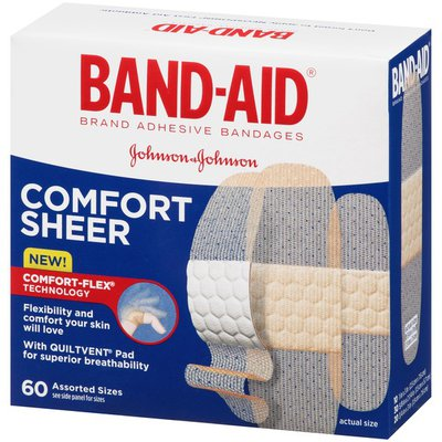 Band-Aid Brand Sheer Strips Adhesive Bandages, Assorted Sizes