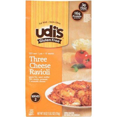 Udi's Gluten Free Three Cheese Ravioli Frozen Entree