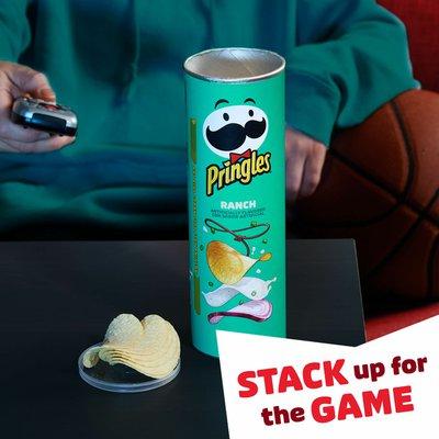 Pringles Potato Crisps Chips, Lunch Snacks, Ranch
