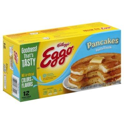 Eggo Frozen Pancakes, Buttermilk, Easy Breakfast
