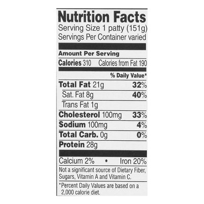 Natural 86% Ground Beef Patty