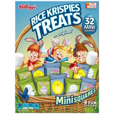 Kellogg's Rice Krispies Treats Minisquares Original Crispy Marshmallow Squares
